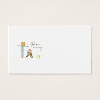 Scarecrow Jack O' Lantern Pumpkin Children Dog Business Card
