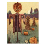 Scarecrow Jack O Lantern Pumpkin Postcards