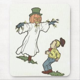 Scarecrow Jack O' Lantern Scared Boy Mouse Pad