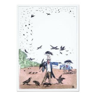 Scarecrow on a Farm Card