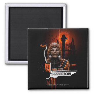 Scarecrow Orange Graphic 2 Inch Square Magnet
