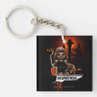 Scarecrow Orange Graphic Keychain