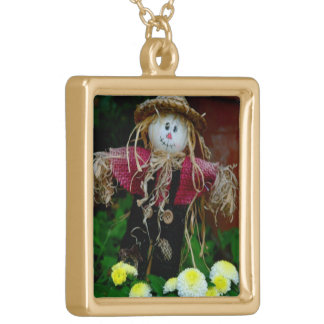 """"""" SCARECROW"""" (PHOTOG) GOLD PLATED NECKLACE"""