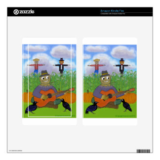 Scarecrow Playing Guitar Kindle Fire Decal