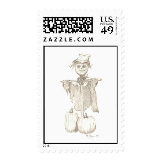 scarecrow postage stamps