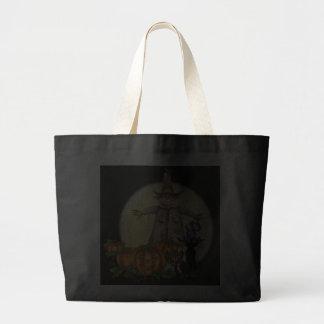 SCARECROW, PUMPKIN JACKS, CAT by SHARON SHARPE Tote Bags