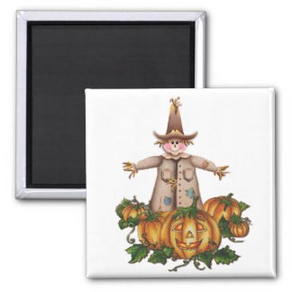SCARECROW & PUMPKIN PATCH by SHARON SHARPE Magnet