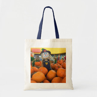Scarecrow & Pumpkins #2 Tote Bag
