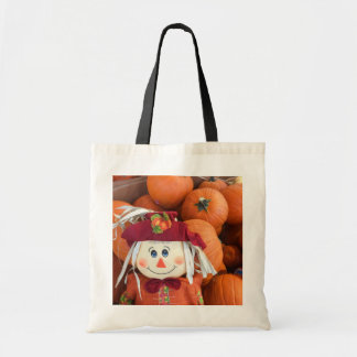 Scarecrow & Pumpkins Tote Bag
