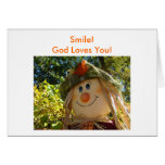Scarecrow, Smile!God Loves You! Cards