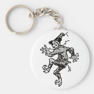 Scarecrow Striding Basic Round Button Keychain