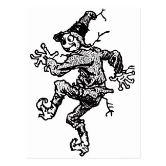 Scarecrow Striding Post Card