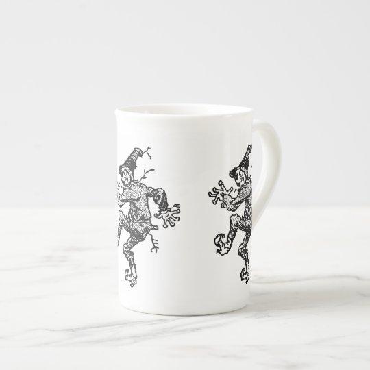 Scarecrow Striding Tea Cup