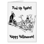 Scarecrow Tied in Tree Card