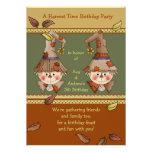 Scarecrow Twins Invitation