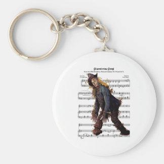 Scarecrow w/Sheet Music Background Keychain
