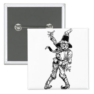 Scarecrow Waving Pinback Buttons