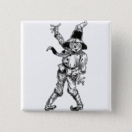 Scarecrow Waving Pinback Button