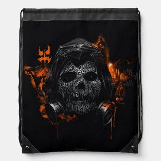 Scarecrow - Welcome To Gotham City Drawstring Bag