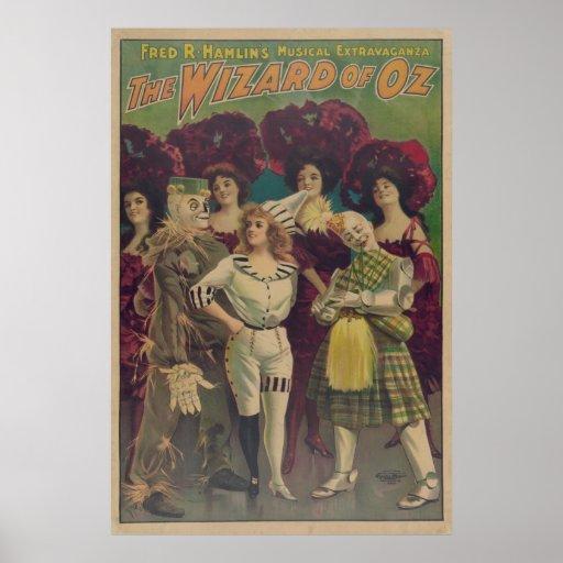 Scarecrow Wizard of OZ Musical VAUDEVILLE Poster
