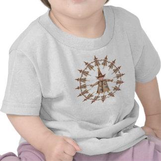 SCARECROW WREATH by SHARON SHARPE Tee Shirt