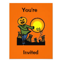 Scarecrow, You're, Invited Card
