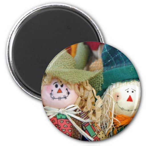 Scarecrows 2 Inch Round Magnet