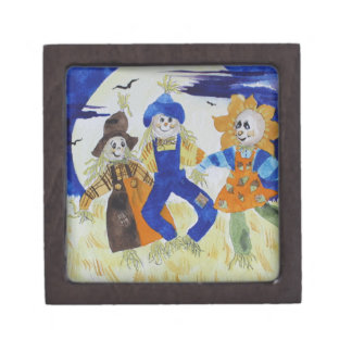 Scarecrows Dancing Jewelry Box