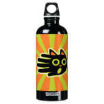 Hand shaped Scared Black Cat Aluminum Water Bottle