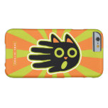 Hand shaped Scared Black Cat Barely There iPhone 6 Case