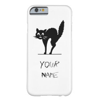 Scared Black Cat Barely There iPhone 6 Case
