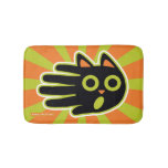 Hand shaped Scared Black Cat Bathroom Mat