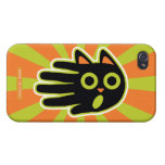 Hand shaped Scared Black Cat Covers For iPhone 4