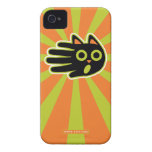Hand shaped Scared Black Cat iPhone 4 Case