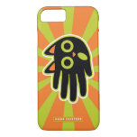 Hand shaped Scared Black Cat iPhone 7 Case