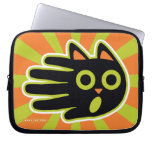 Hand shaped Scared Black Cat Laptop Sleeve