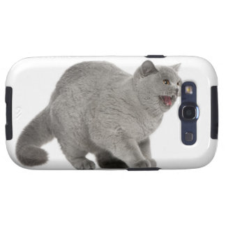 Scared British Shorthair hissing (8 months old) Galaxy S3 Case
