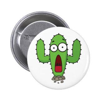Scared Cactus Pin