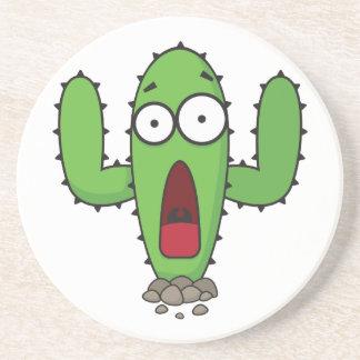 Scared Cactus Beverage Coaster
