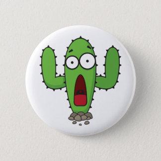 Scared Cactus Pinback Button