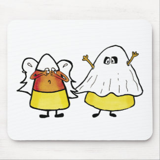 Scared Candy Corn Mouse Pad