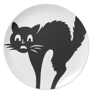 Scared Cat Dinner Plate