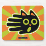 Hand shaped Scared Cat Mouse Pad