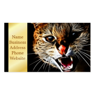Scared catpainting business card
