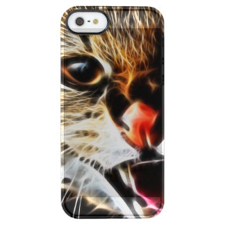 Scared catpainting clear iPhone SE/5/5s case