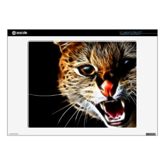 Scared cat painting laptop decal