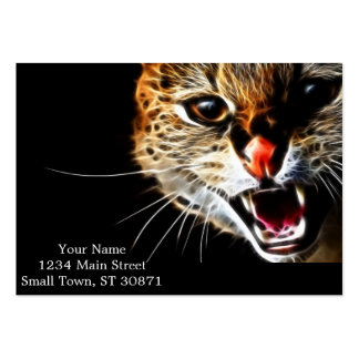 Scared catpainting large business card