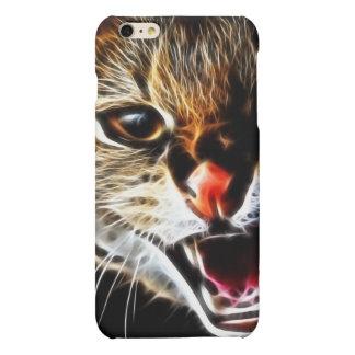 Scared catpainting matte iPhone 6 plus case