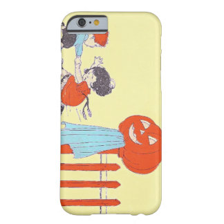 Scared Children Fence Jack O Lantern Pumpkin Barely There iPhone 6 Case