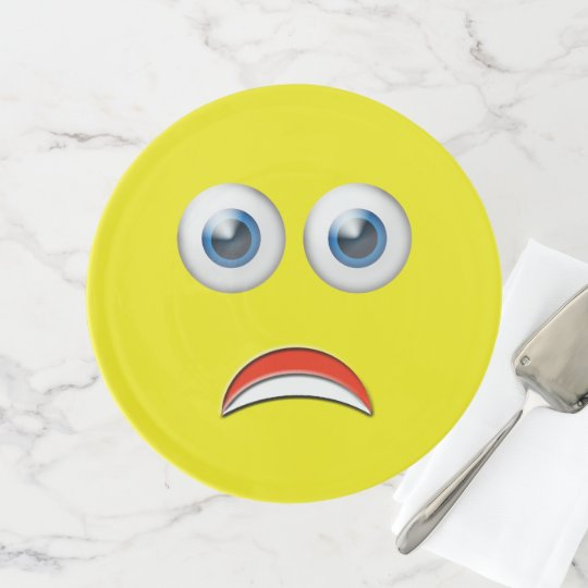 scared emoji cake stand zazzle com